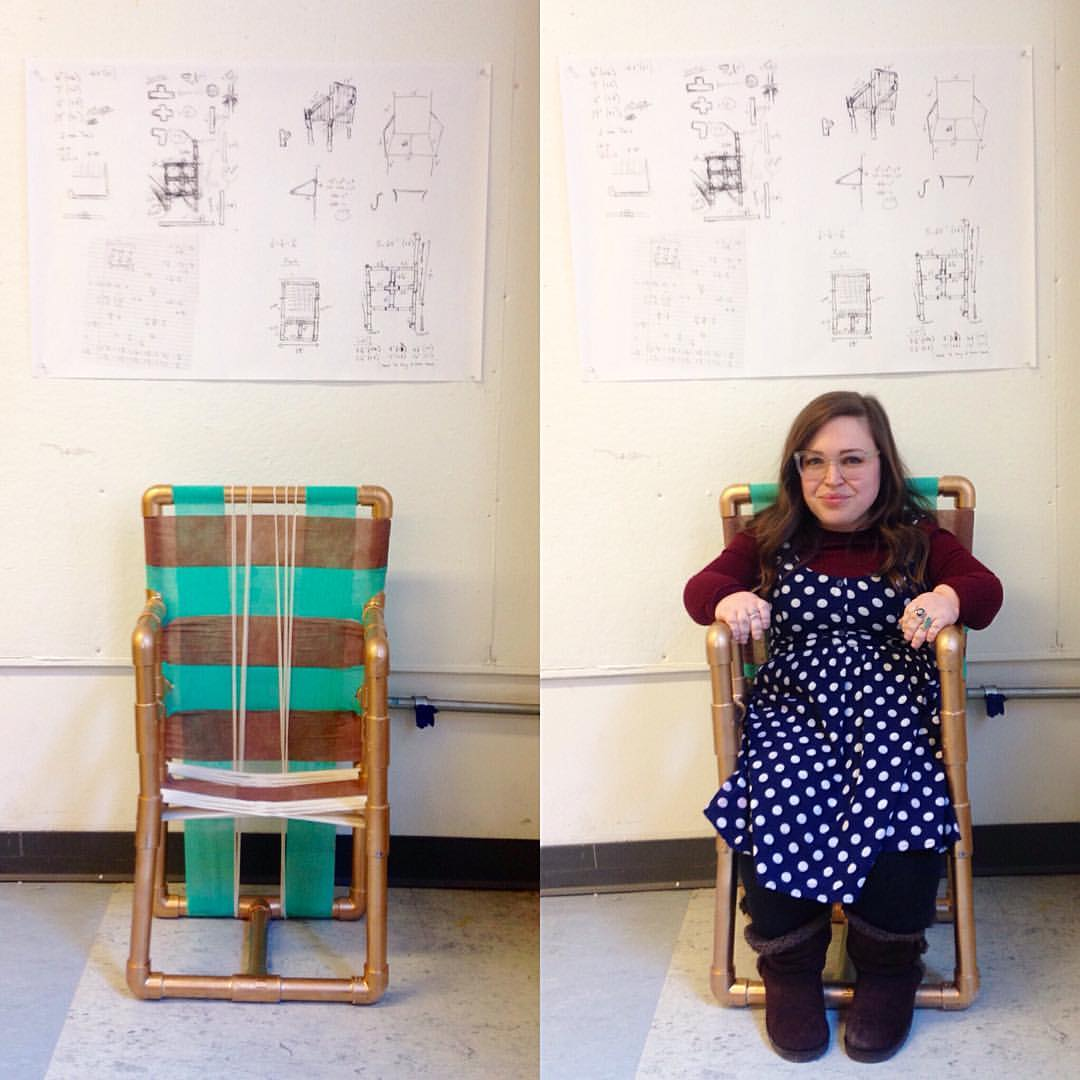 Custom Chair Design  | PVC Pipe and Bandages, 2016