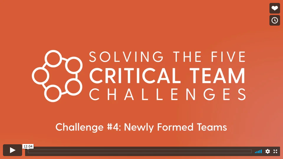 Challenge #4: New Teams  What do we need to focus on in the first 90 days? How do we build unity and collaboration in a New Team? How can we help New Teams achieve goals quickly?