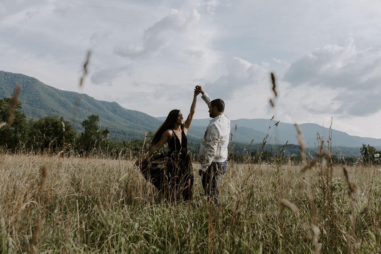 Great Smoky Mountain Engagement Photos