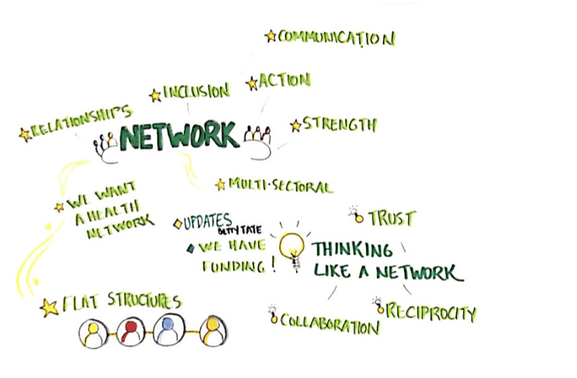 Designing: Governance Task Group - October 2017-March 2018A Governance Task Group was created to draft the health network governance framework. This included the mission, values, principles, structure, consensus decision-making process, guidelines, and a framework to take back to the community.