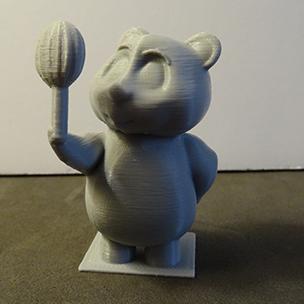 Oliver admiring his yummy Candy (3D Printed Teddy Bear)