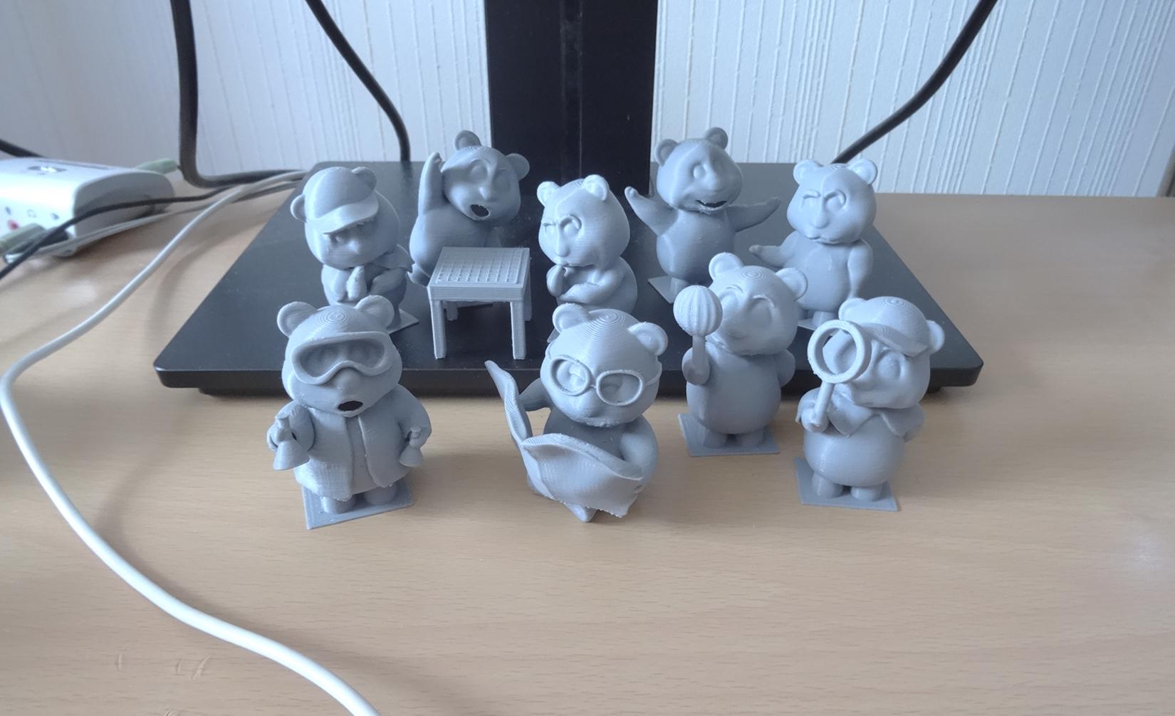 Oliver Teddy Bear Family (3D Printed Teddy Bears)