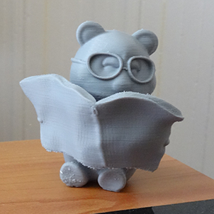 Oliver reading the Newspaper (3D Printed Teddy Bear)