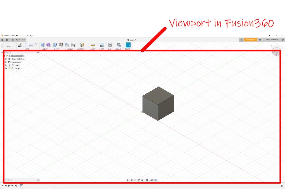Fusion 360 Viewport