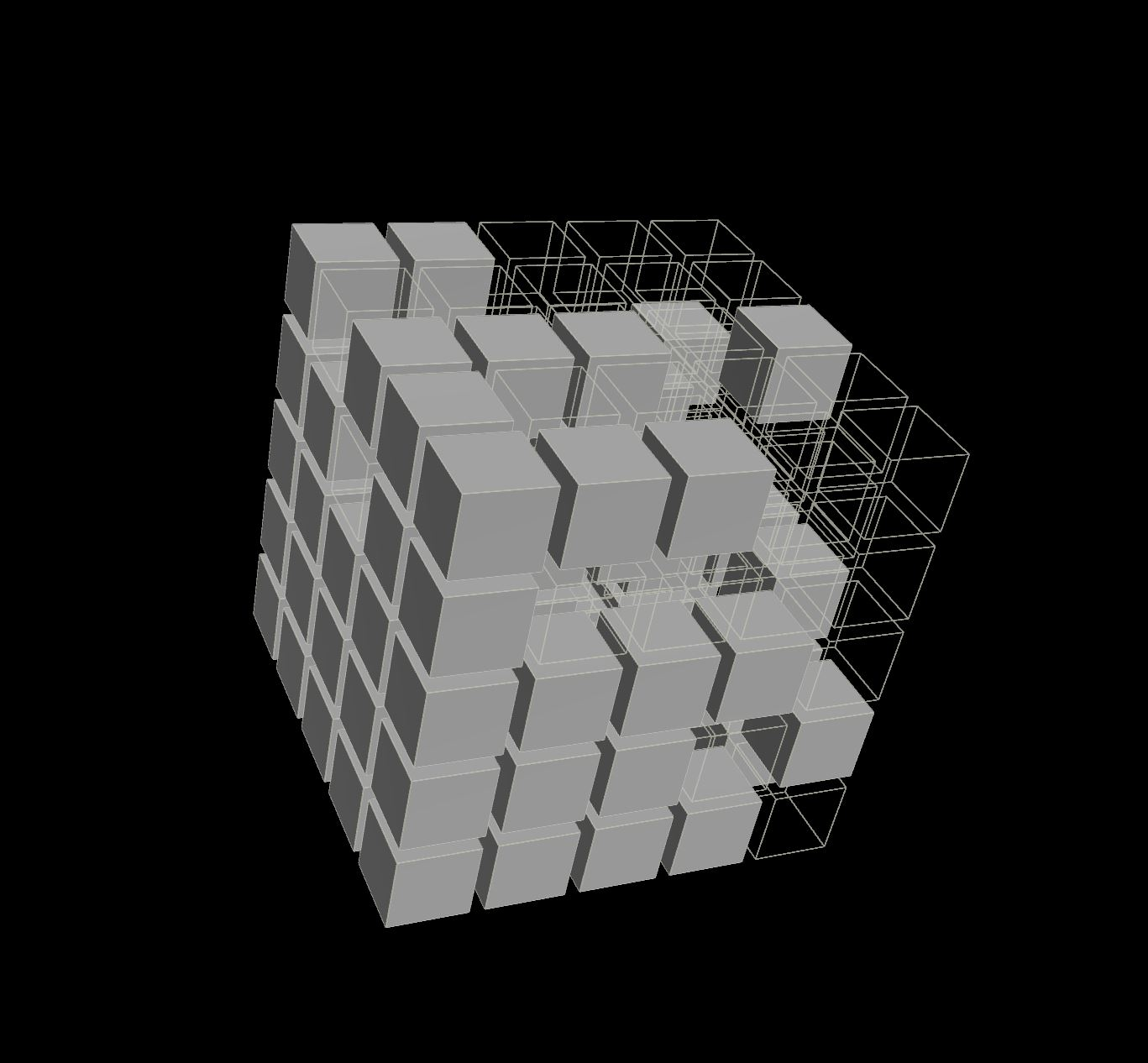 Illustration of Voxels in a Volume