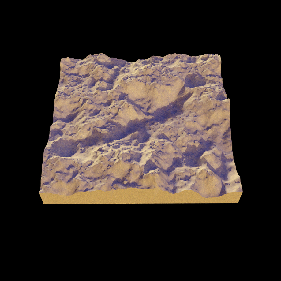 Terrain created with Houdini's Height Field nodes
