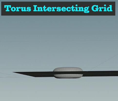 Torus and Ground Plane Overlap