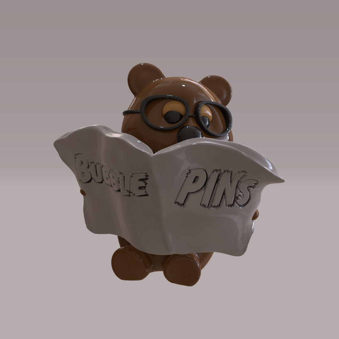 Teddy Bear reading a Newspaper I created in zBrush
