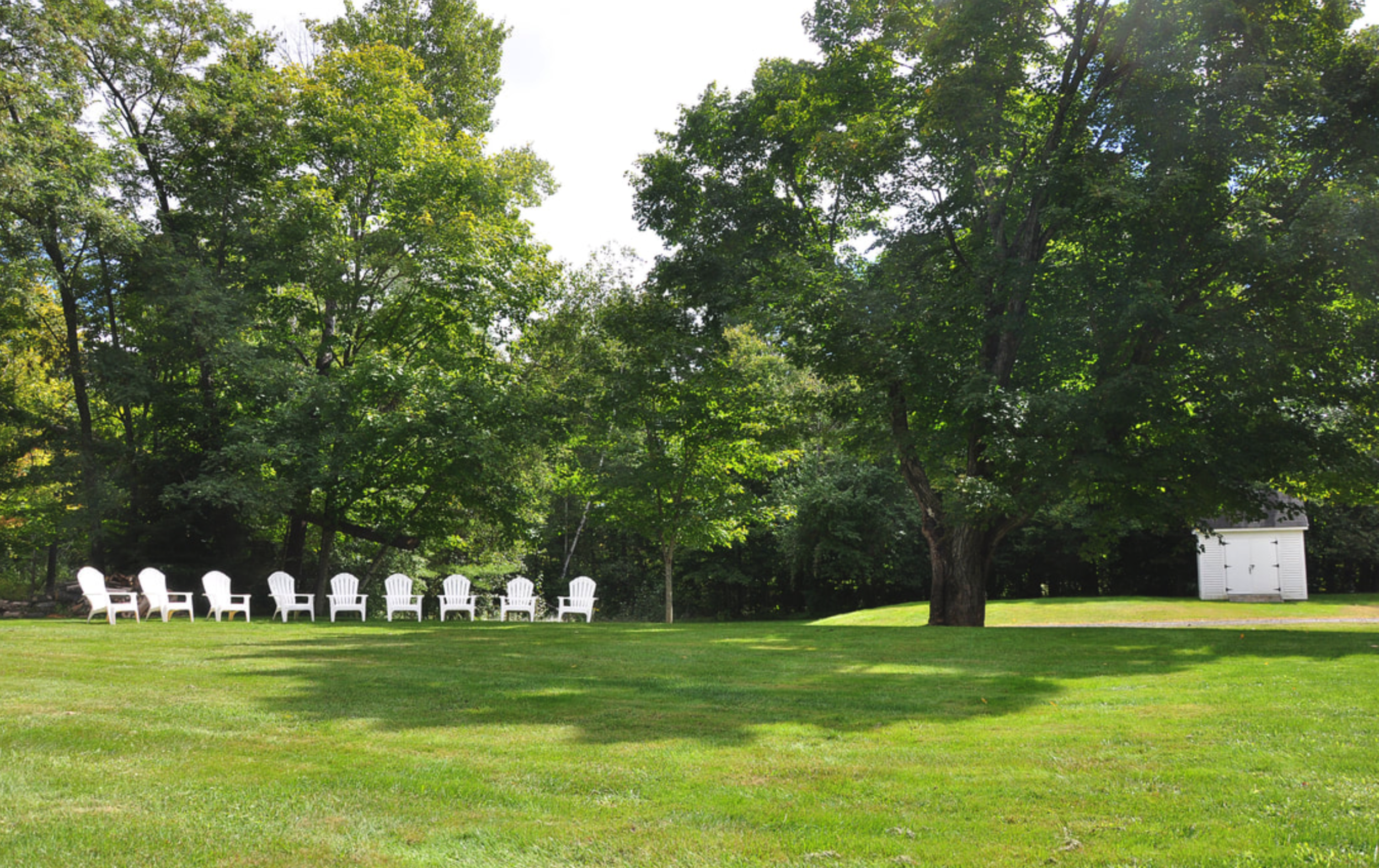 Relax on the lush, spacious lawn
