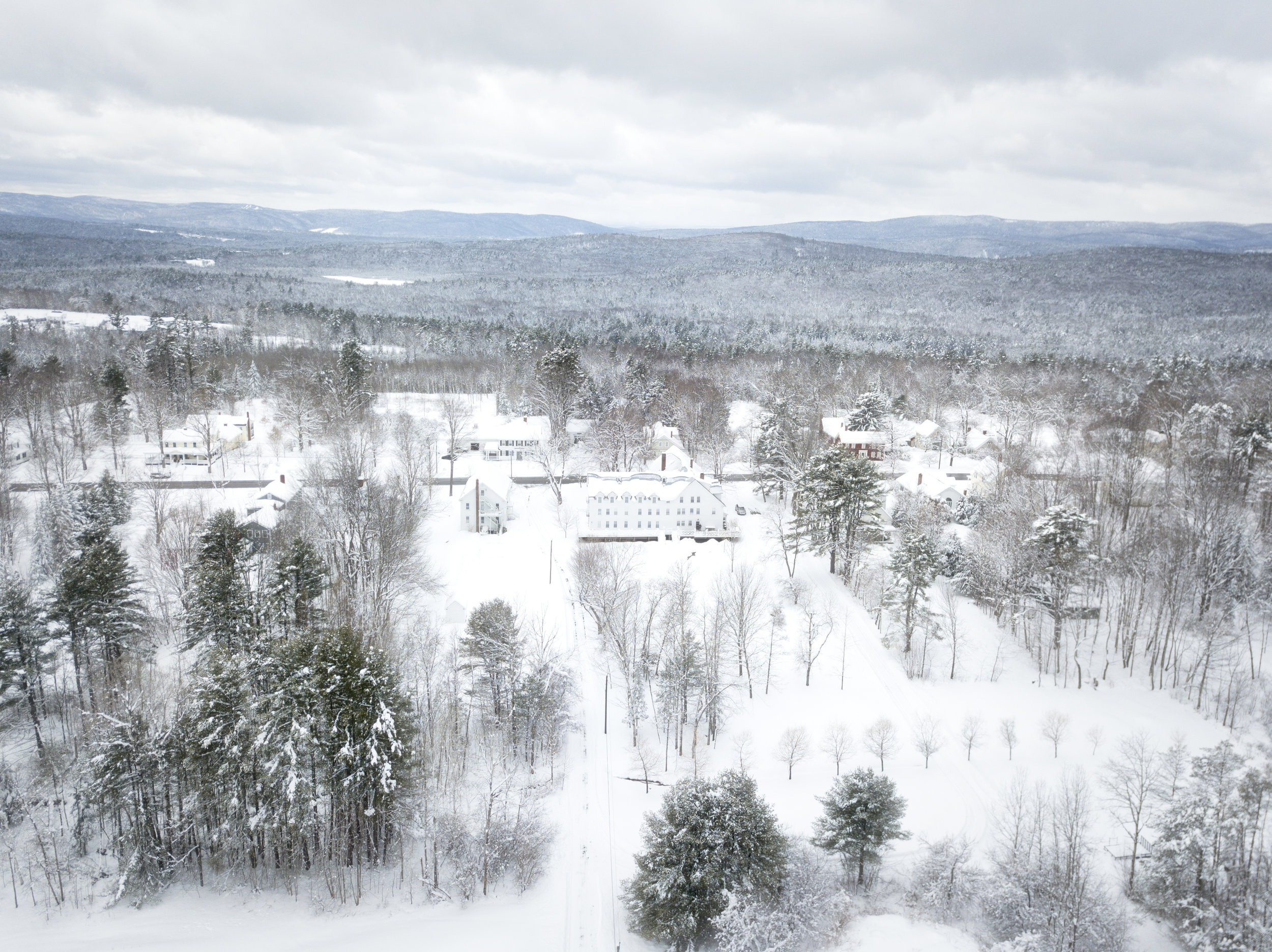 A winter view from above