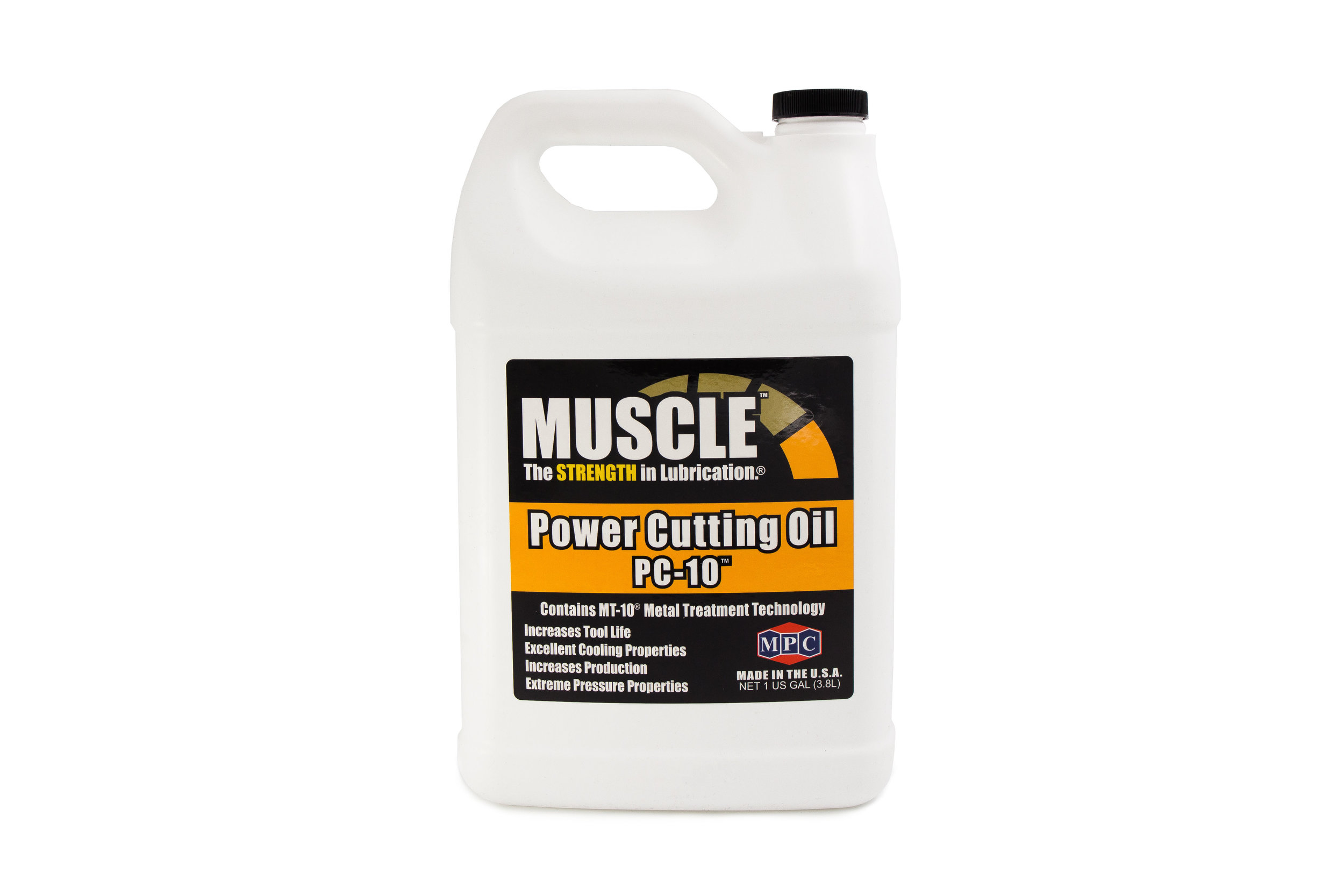 Power Cutting Oil PC-10™  PC-10™ is used in a wide range of cutting and drilling applications and is specifically designed for dual functionality: Use full-strength or as a supplemental additive to the existing insoluble oil.   Learn More >>