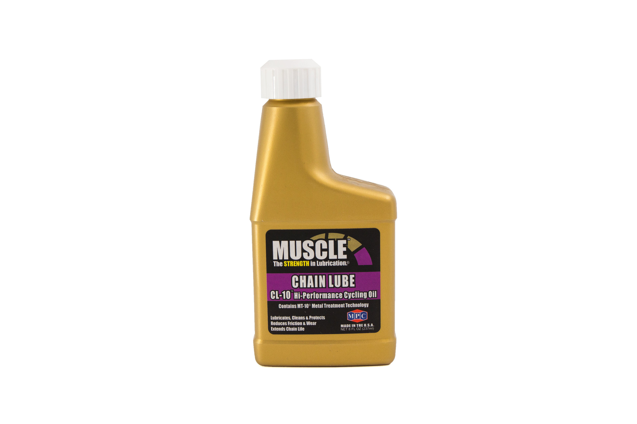 Chain Lube Oil CL-10™  Chain Lube CL-10™ is a light bicycle chain oil that lubricates, cleans and protects – three functions formulated into one superior lube.     Learn More >>