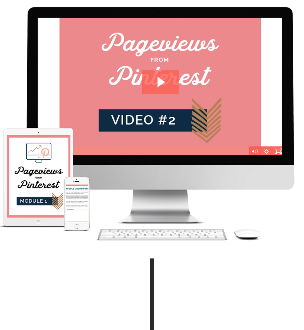 Pageviews from Pinterest - The 7-step system to skyrocket your blog traffic, email list, and income with Pinterest in the next 30 days. Let's make Pinterest a powerhouse that grows your business on autopilot, shall we?