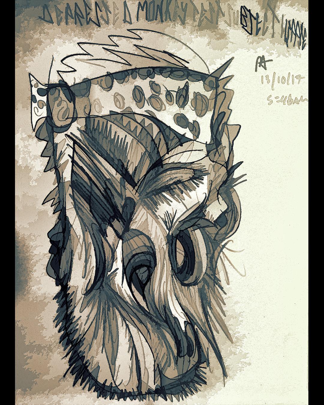 DEPRESSED MONKEY TEST SUBJECT HIPPIE