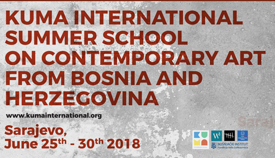 - 2018, Jun 27, Wednesday 3:00PMNetworks, Skenderpašina Street 1, Sarajevo, BiH - Kuma International Summer School on Contemporary Art from Bosnia and HerzegovinaArtist talk by Velibor Bozovic.