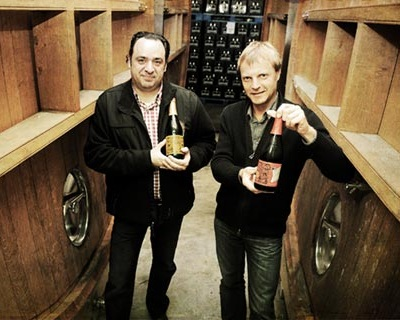Cousins and brewery owners: Geert Lindemans (left) and Dirk Lindemans (right)