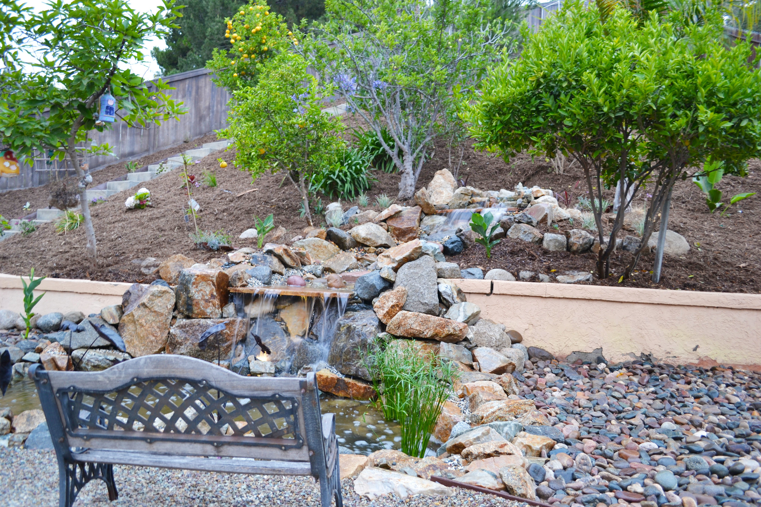 AFTER WATERFALL/POND