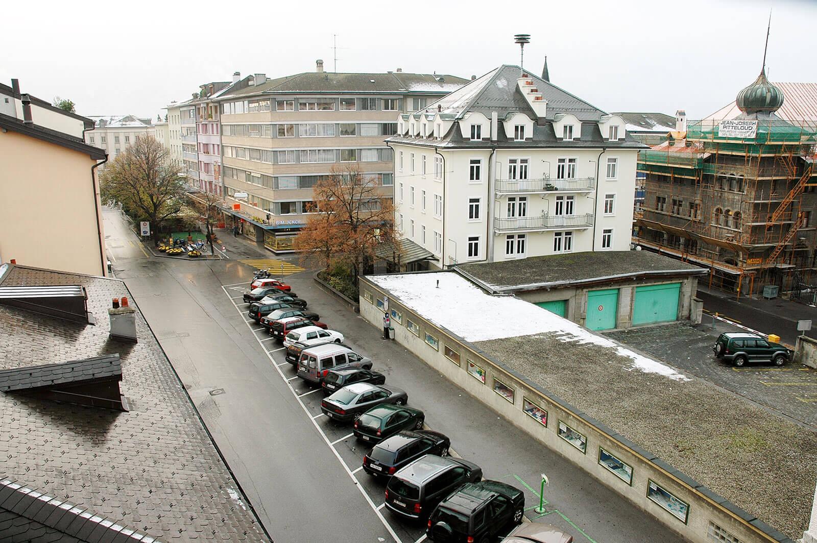 rue des Remparts avant les travaux | Sion