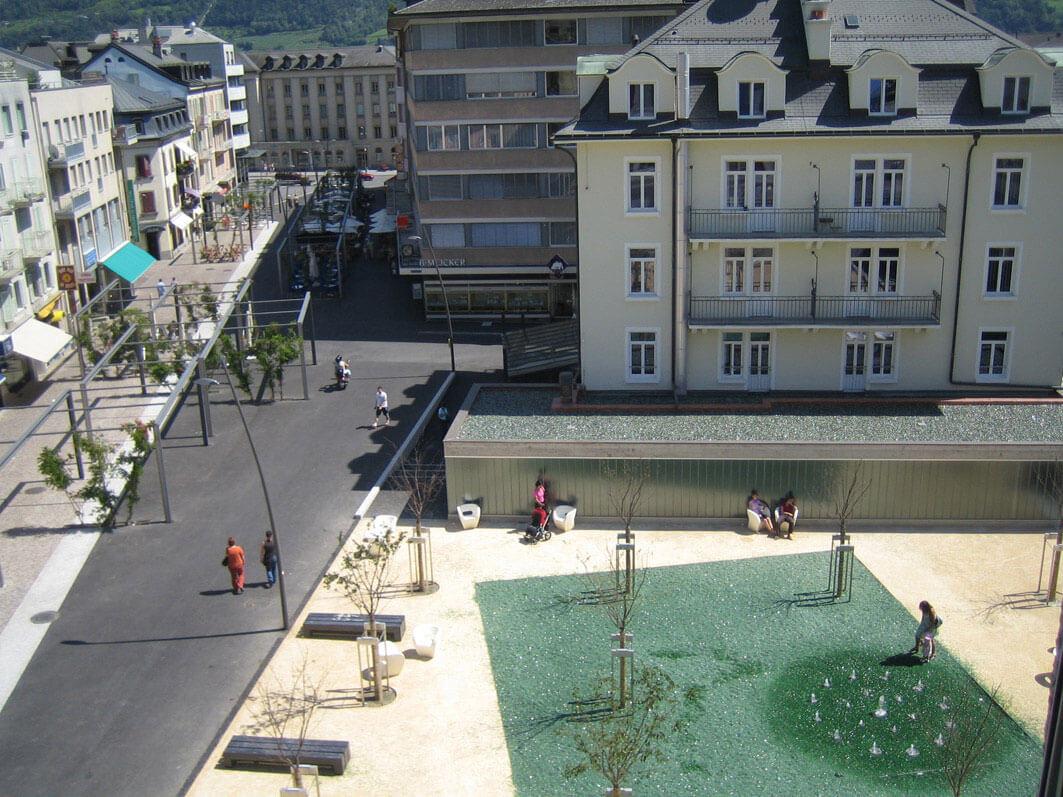 place et rue des Remparts | Sion