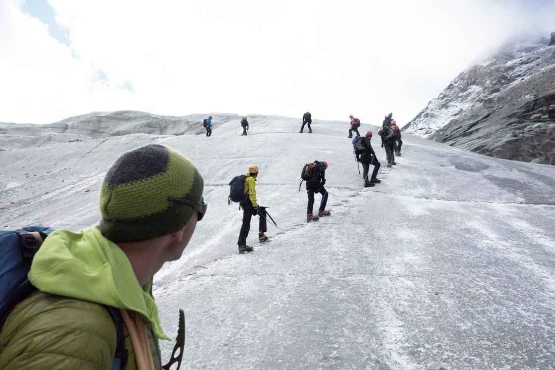 sortie sur le glacier de Moiry