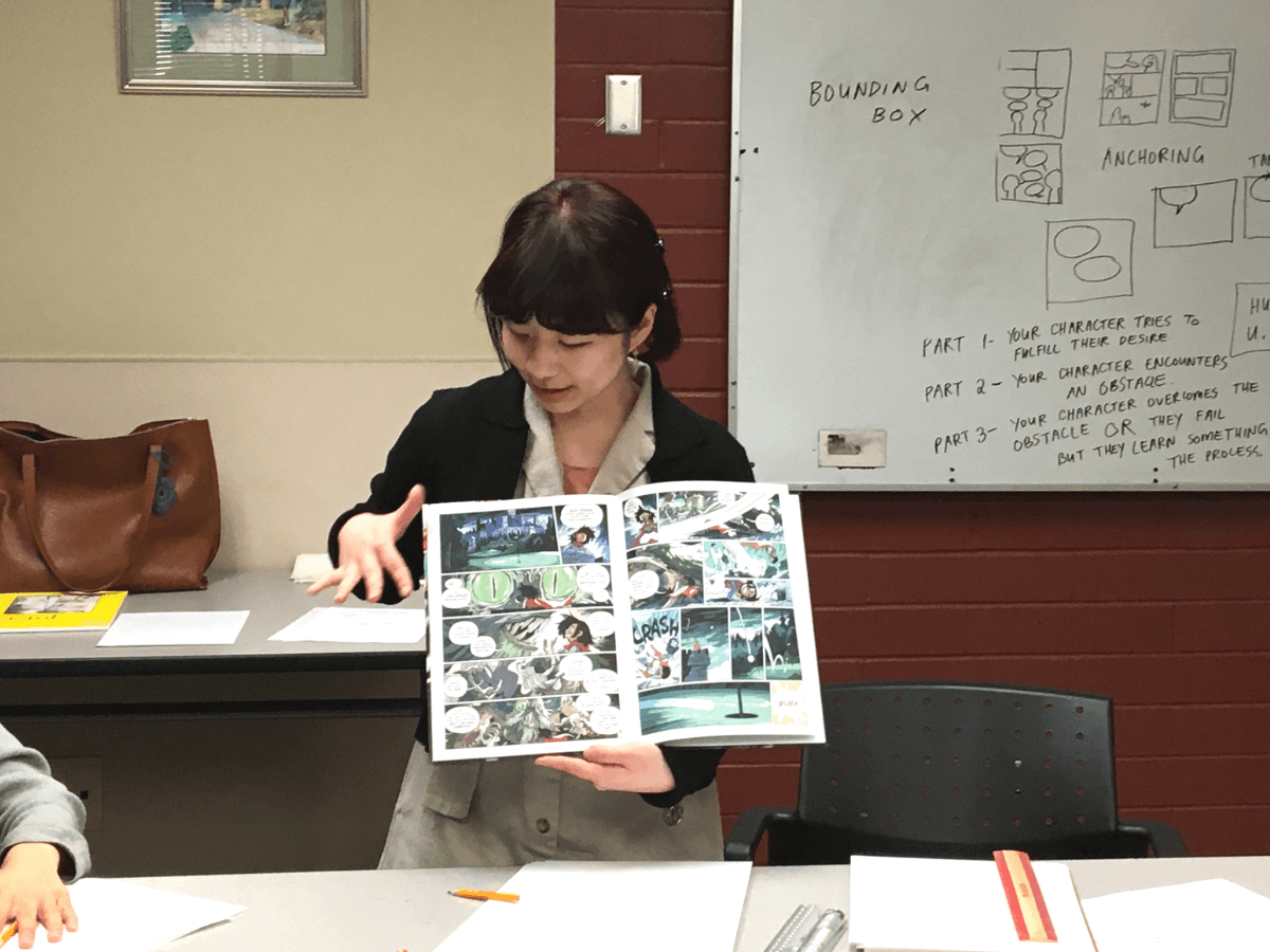 Comic Stories workshop at Burnaby Public Library
