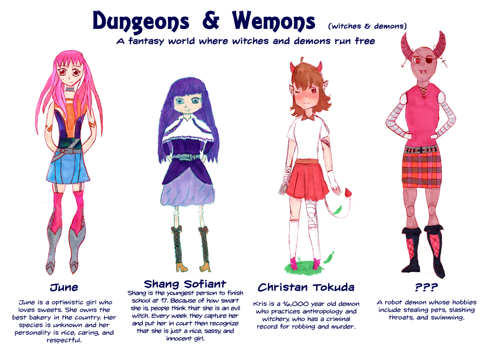 Demons & Wemons comic characters