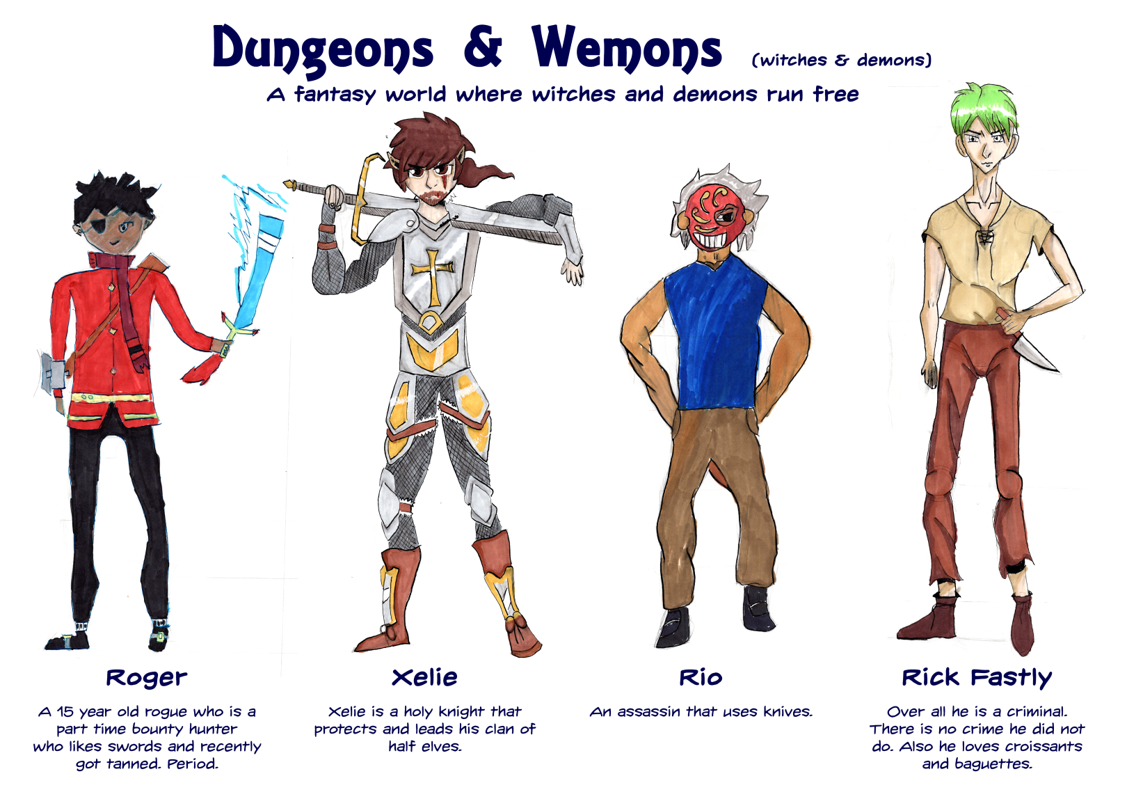 Dungeons & Wemons comic characters