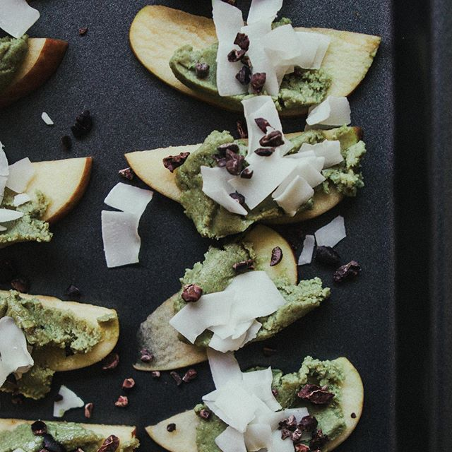A new spin on an old favorite. Swap your peanut butter for some #pumpkinseedbutter add in some coconut chips and cacao nibs and you're all done!