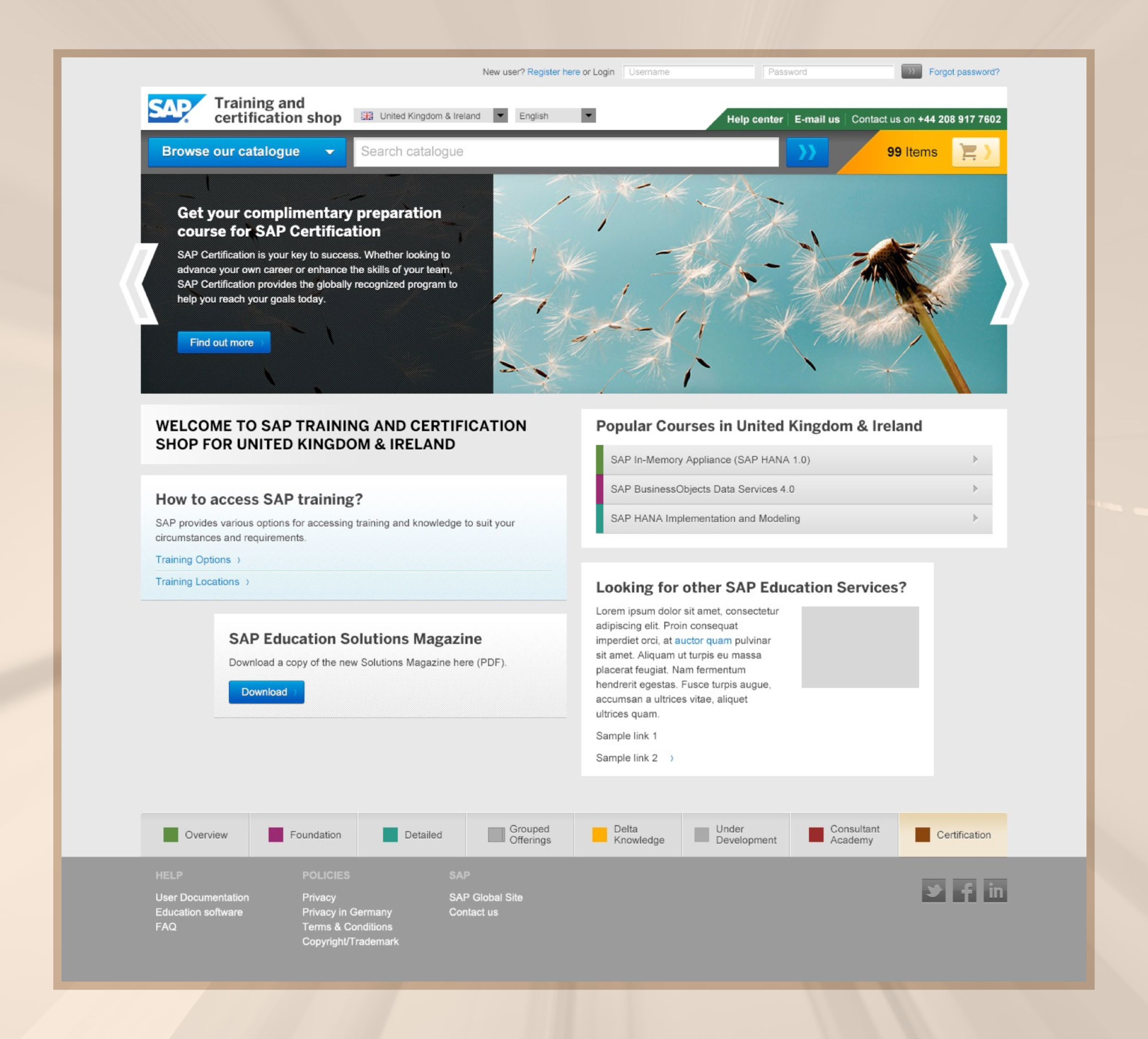 Training and certification ecommerce homepage.png