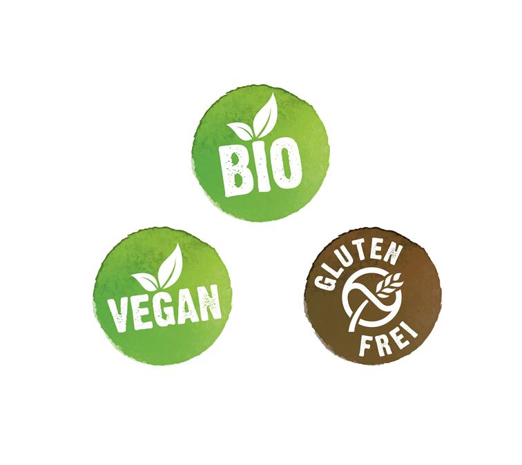 Bio-, vegane & glutenfreie Produkte