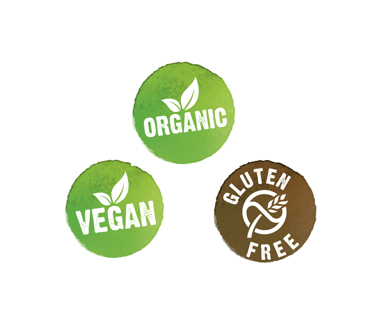 Organic, vegan & glutenfree products