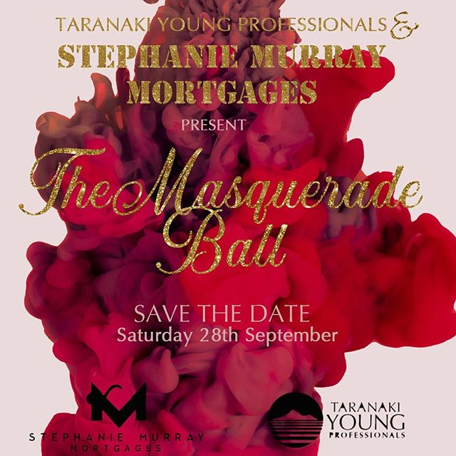 ✨ Taranaki Young Professionals and Stephanie Murray Mortgages present The Masquerade Ball ✨ 💃🏻 Saturday 28th September, The Devon Hotel. Save the date – You won't want to miss this night! 🕺🏾 RSVP on our website to be notified when ticket sales are released in July 🎟🎭 www.typ.co.nz/events/masquerade-ball-2019 #typ #taranakiyoungprofessionals #stephaniemurraymortgages #masqueradeball #typball2019