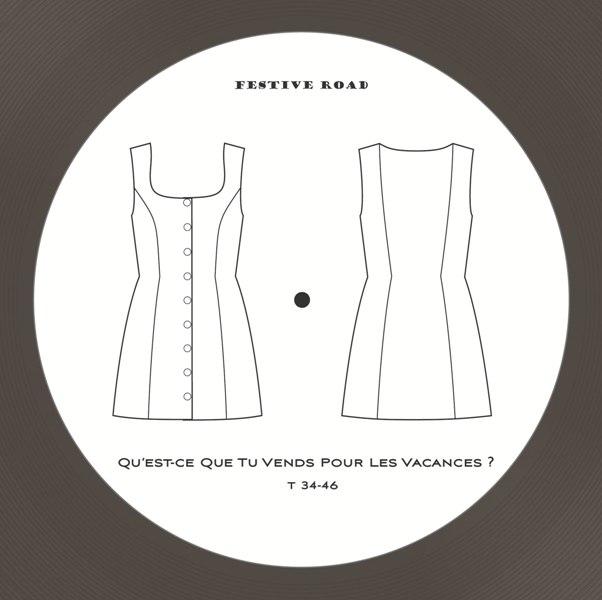 Pochette Devant petit rondnoir atténué chemise mixte