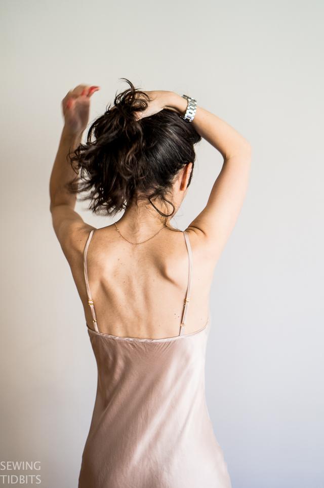 Just Patterns Bias Slip dress by Sewing Tidbits