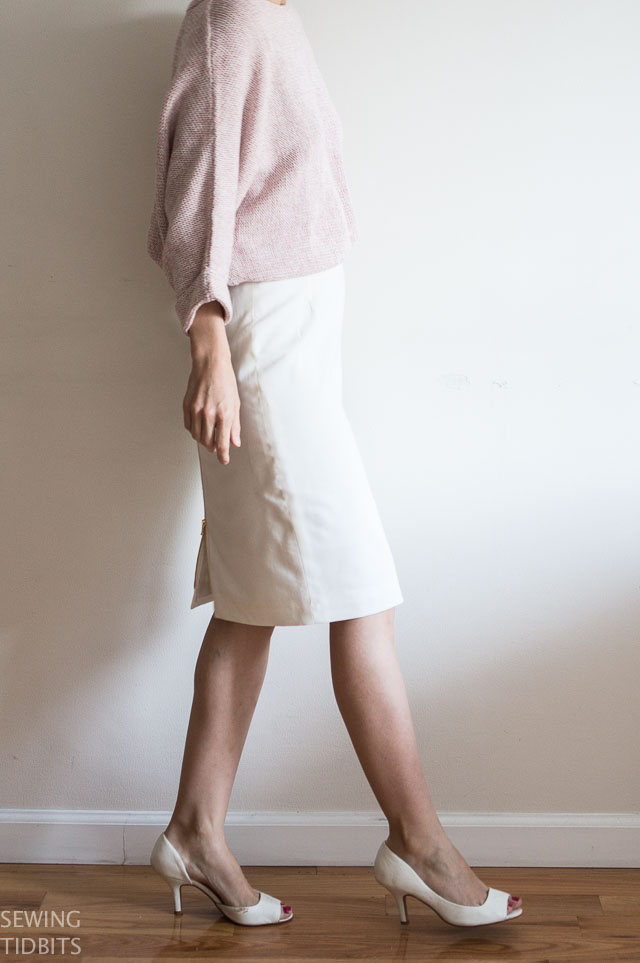 White Pencil Skirt by Sewing Tidbits