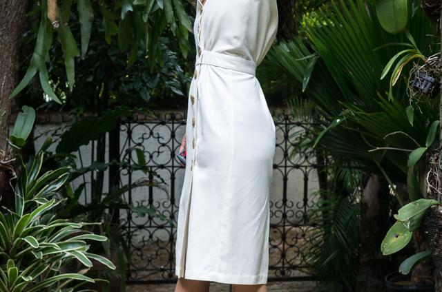 Just Patterns Linda Wrap Dress buttons