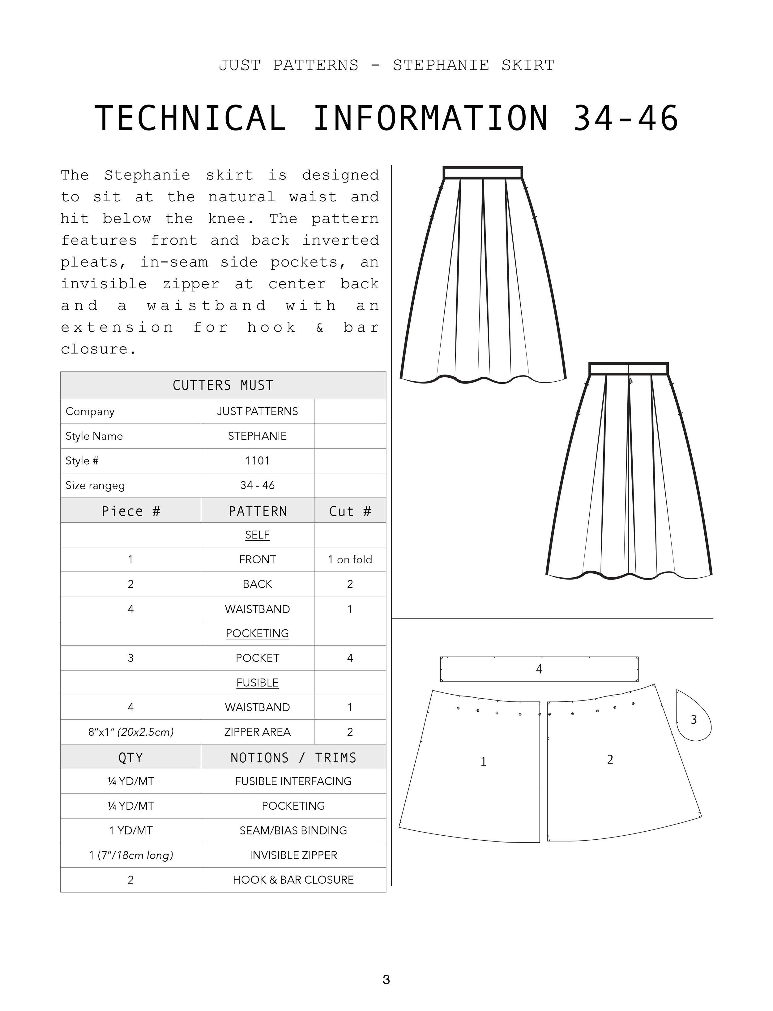 Stephanie Skirt Cutter's must 34 46