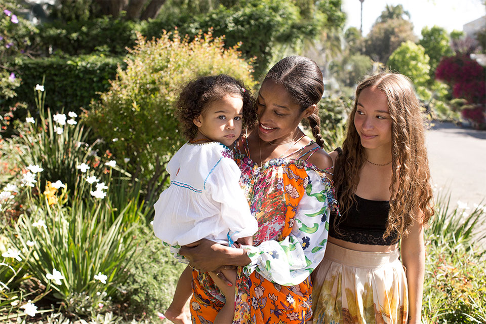 Shirley Erskine-Schreyer, founder & editor in chief, and mom of Michaela (22) and Bella (5). Photographed by  Alden Wallace