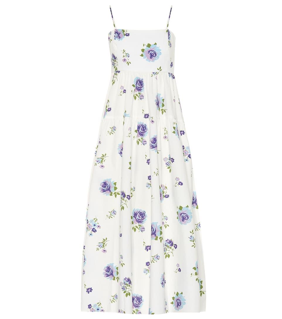 LES REVERIES Floral cotton dress