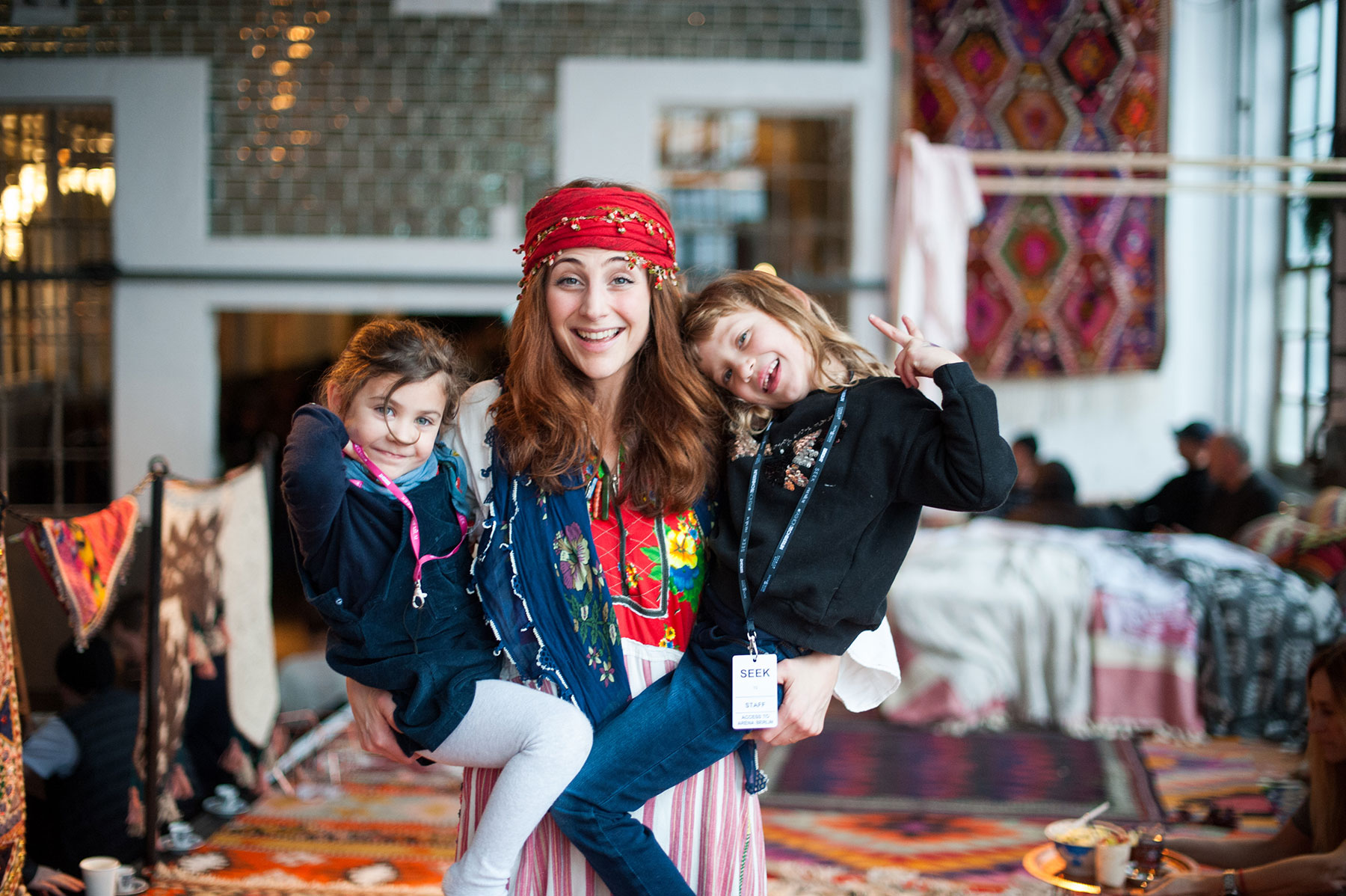 ABOUT BEYZA - I am proud mother of two incredible girls (2011 & 2014), born nearby Stuttgart but with Turkish roots. Living in Berlin since 2006. Dealing with Vintage kilims and rugs from the midcentury, sourcing, cleaning and restoring them in a sustainable and ecological way. Besides this I am plant dying garments and working on a sustainable fashion collection, an oriental pharmacy and a Turkish restaurant.#MomlifeRosa 8 years girl, Elanur 5 years girlWhat is your favourite travel hack with kids?spending the whole summer in the Southcoast of Turkey in my parents house (with pool & beach in front) and traveling through other parts of Anatolia with them, combining family travel and business at the same time.What do you do for self care?Kundalini yoga, meditation, health food (Turkish superfoods), fasting and lots of traveling#WorklifeCEO & founderWild Heart Free Soulwww.wildheartfreesoul.comSide HustleWild Plant Dying, producer of natural soaps & cosmeticsInterested in Collaborating