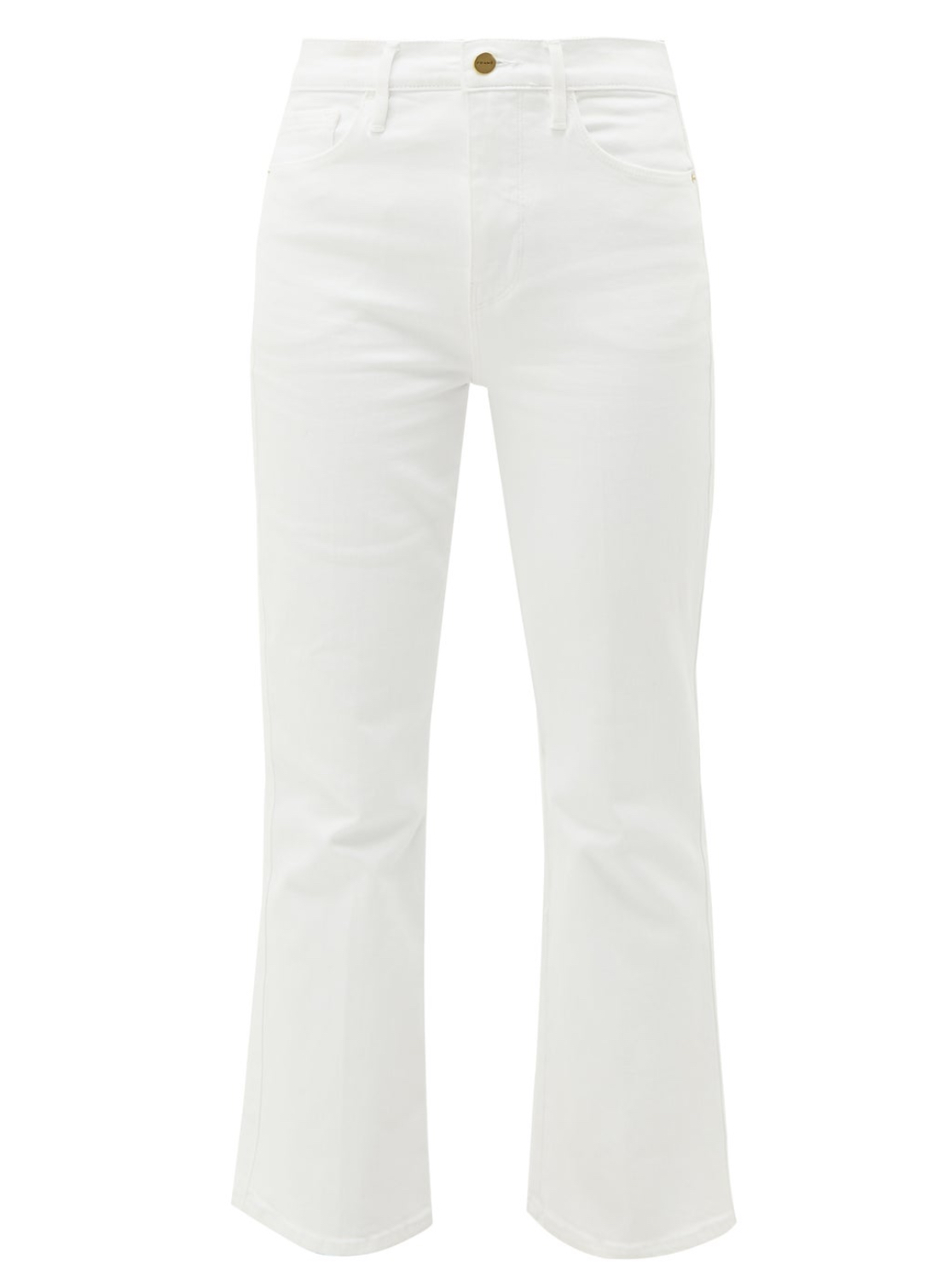 FRAME Kick Flare Cropped Jeans