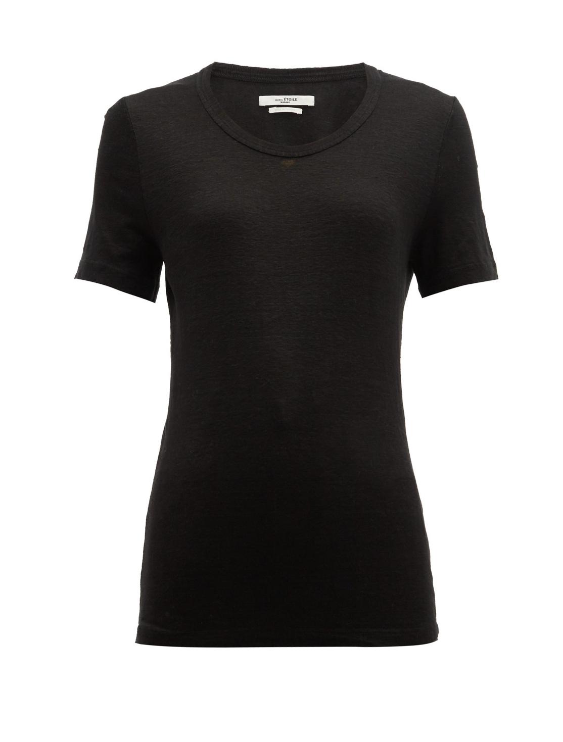 ISABEL MARANT Linen Jersey T-Shirt