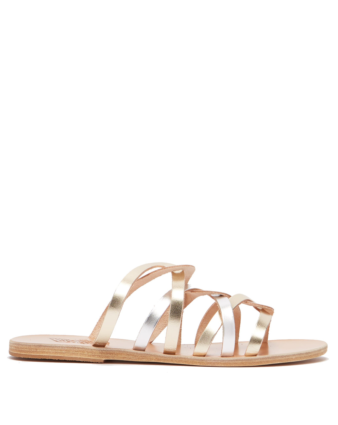 ANCIENT GREEK SANDALS Metallic Leather Sandals