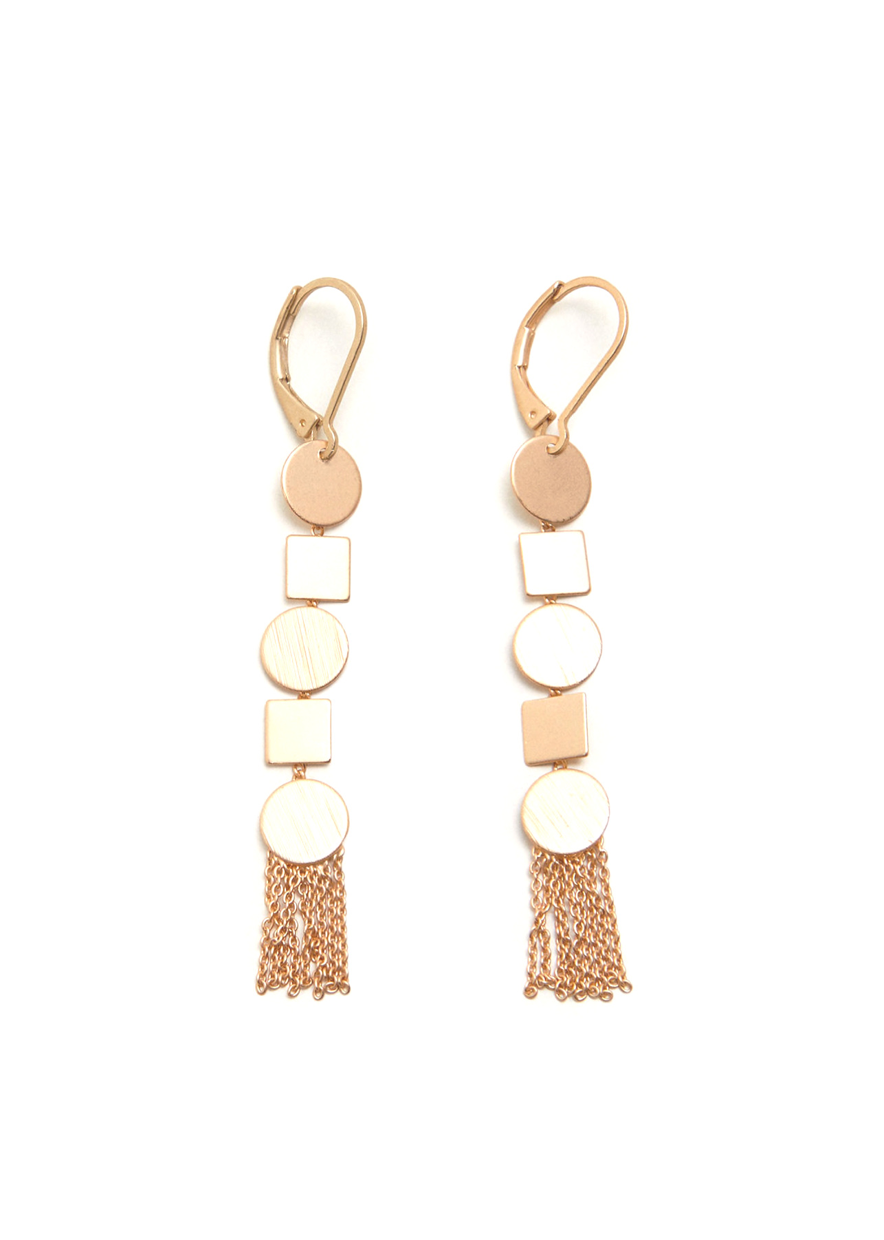 MANGO Geometric Earrings