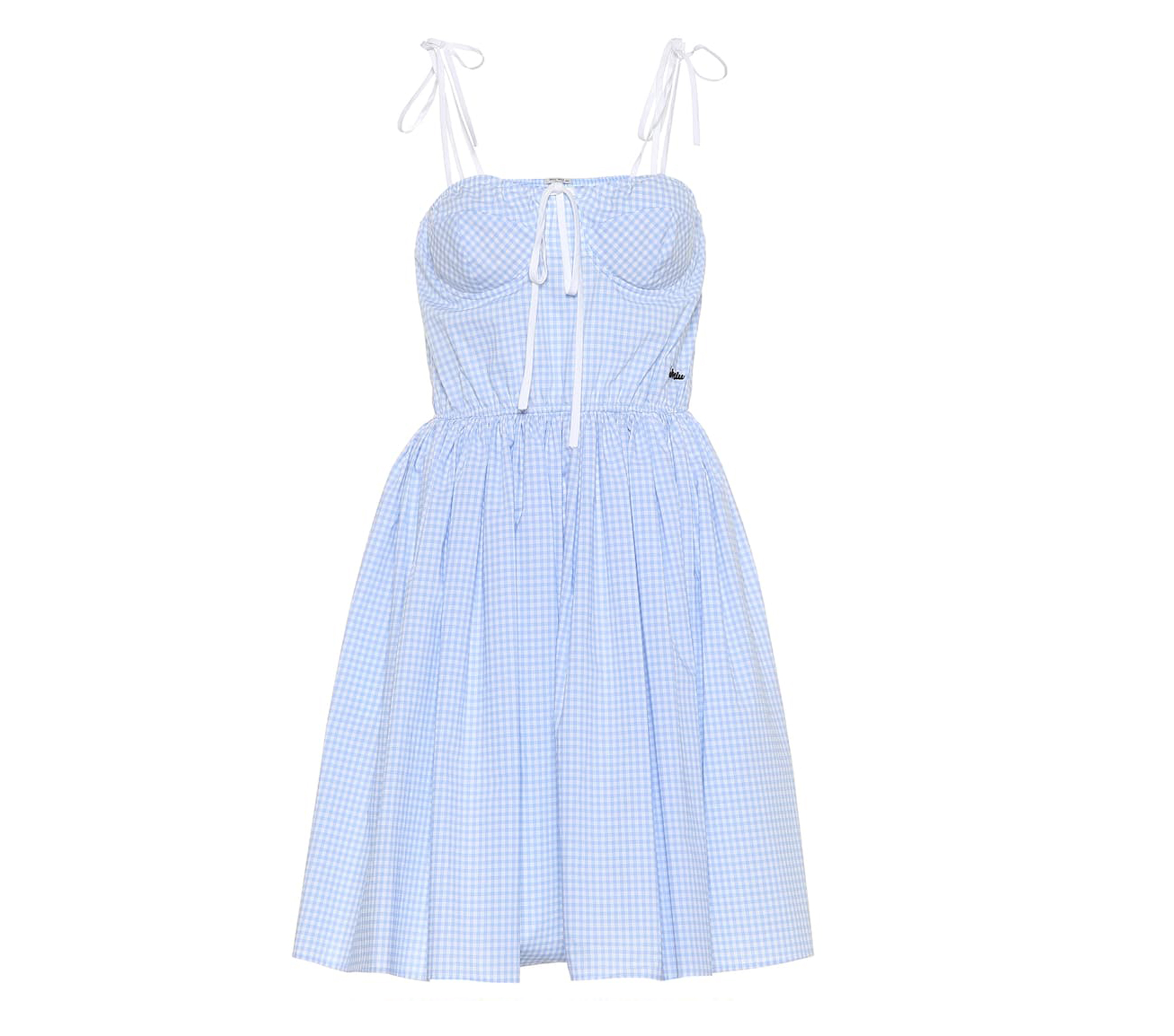 MIU MIU Gingham Cotton Dress