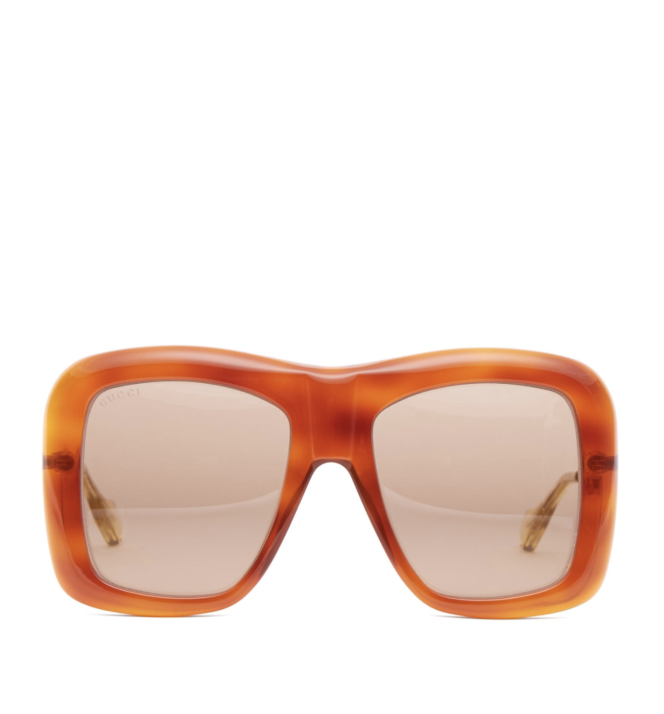 GUCCI Square Acetat and Metal Sunglasses