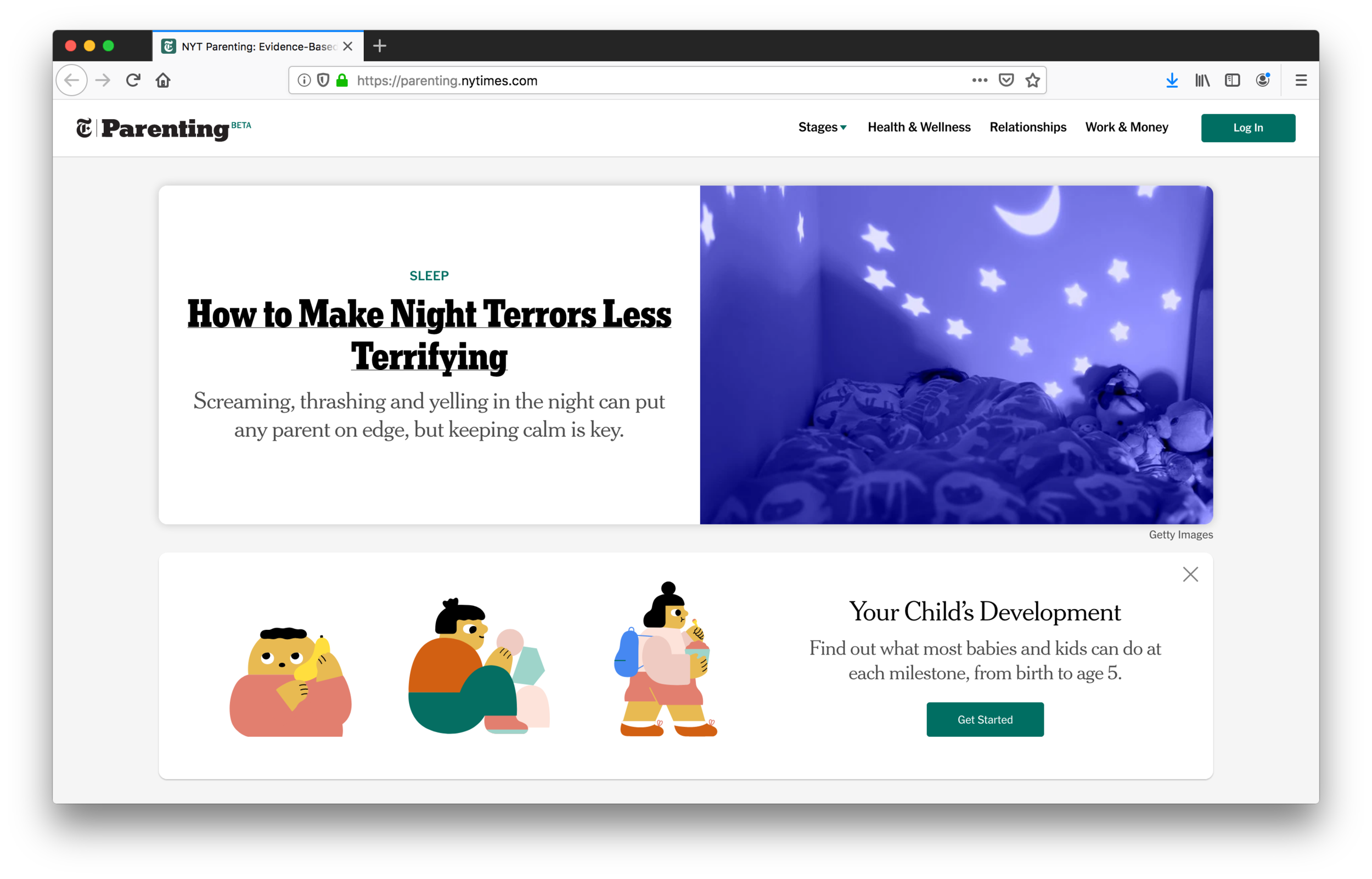 NY Times Parenting