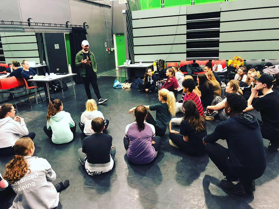 Jon-Scott Clark from HAMILTON in a Q&A with LCPA students
