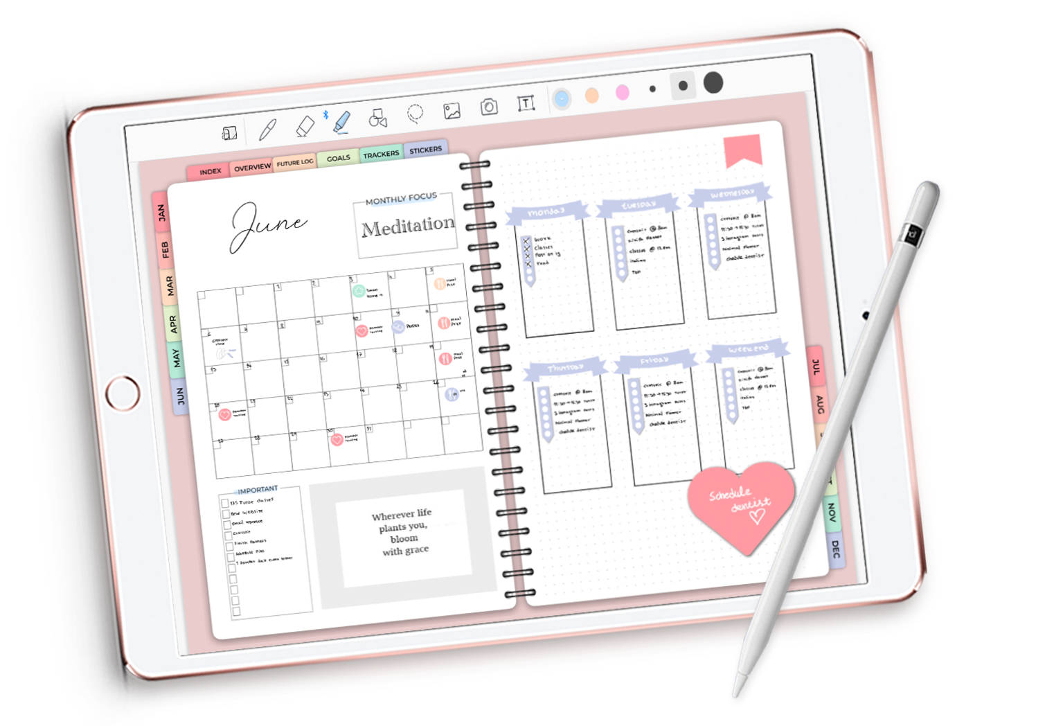The Digital Bullet Journal - Plan, create, set goals. Just like a bullet journal…but easier.
