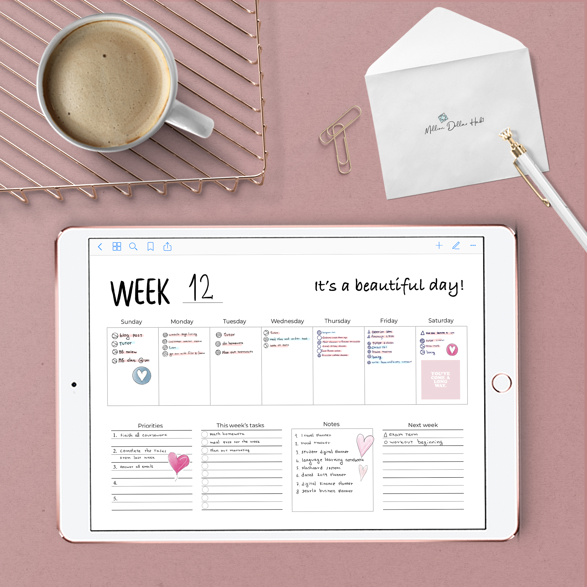 Weekly Goodnotes Planner